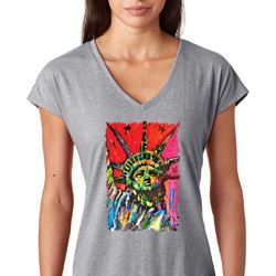 Statue of Liberty Painting Ladies Shirts