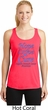 Stomach Cancer Hope Love Cure Ladies Dry Wicking Racerback