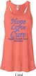 Stomach Cancer Hope Love Cure Ladies Flowy Racerback