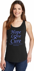 Stomach Cancer Hope Love Cure Ladies Tank Top