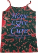 Stomach Cancer Hope Love Cure Ladies Tie Dye Camisole Tank Top