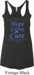Stomach Cancer Hope Love Cure Ladies Tri Blend Racerback