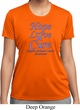 Stomach Cancer Tee Hope Love Cure Ladies Dry Wicking T-shirt
