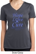 Stomach Cancer Tee Hope Love Cure Ladies Dry Wicking V-neck