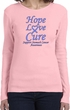 Stomach Cancer Tee Hope Love Cure Ladies Long Sleeve