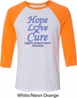 Stomach Cancer Tee Hope Love Cure Raglan Shirt
