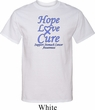 Stomach Cancer Tee Hope Love Cure Tall Shirt