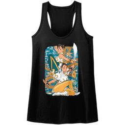 Street Fighter Juniors Tank Top Dual Chun Li Black Racerback