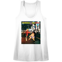 Street Fighter Juniors Tank Top Real Street Fighter White Racerback