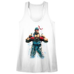 Street Fighter Juniors Tank Top RYU White Racerback