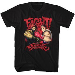 Street Fighter Shirt Fight Black T-Shirt
