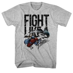 Street Fighter Shirt Fight Like A Athletic Heather T-Shirt
