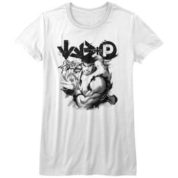Street Fighter Shirt Juniors Hadouken White T-Shirt