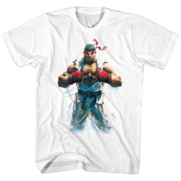 Street Fighter Shirt RYU White T-Shirt