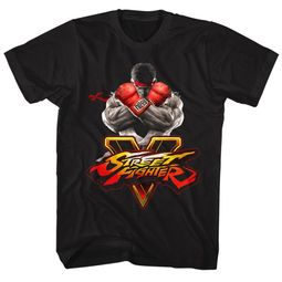 Street Fighter Shirt V Logo 2 Black T-Shirt