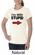 Stupid Shirt I'm With Stupid Black Print Funny Ladies Organic Shirt