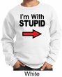 Stupid Sweatshirt I'm With Stupid Black Print Kids Sweatshirt
