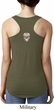 Sugar Skull Patch Back Print Ladies Ideal Tank Top