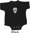 Sugar Skull Patch Middle Print Baby Onesie