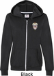 Sugar Skull Patch Pocket Print Ladies Full Zip Hoodie