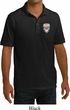 Sugar Skull Patch Pocket Print Mens Pique Polo Shirt