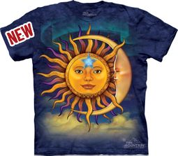 Sun Moon Shirt Tie Dye Clouds T-shirt Adult Tee