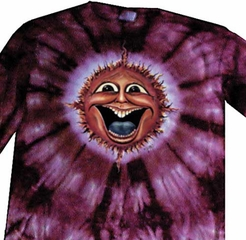 Sunface New Age Adult Unisex Tie Dye Long Sleeve Shirt