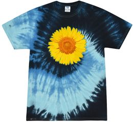 Sunflower Tie Dye Tshirt - Blue Ocean