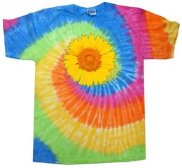 Sunflower Tie Dye Tshirt - Eternity