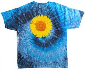 Sunflower Tie Dye Tshirt - Evening Sky