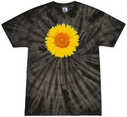 Sunflower Tie Dye Tshirt - Spider Black