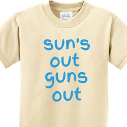 Suns Out Guns Out Kids Shirts