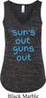 Suns Out Guns Out Ladies Flowy V-neck Tank Top