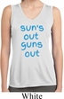 Suns Out Guns Out Ladies Sleeveless Moisture Wicking Shirt
