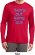 Suns Out Guns Out Mens Dry Wicking Long Sleeve Shirt