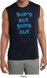 Suns Out Guns Out Mens Sleeveless Moisture Wicking Shirt