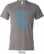 Suns Out Guns Out Mens Tri Blend V-neck Shirt
