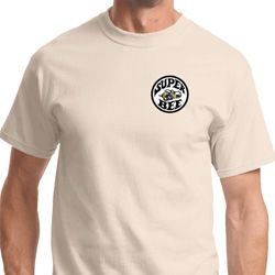 Super Bee Circle Logo Pocket Print Mens Dodge Shirts