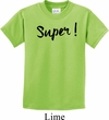 Super Black Print Kids Shirt