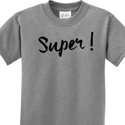 Super Black Print Kids Shirts