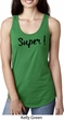 Super Black Print Ladies Ideal Tank Top
