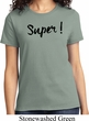 Super Black Print Ladies Shirt