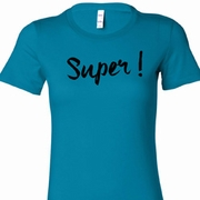 Super Black Print Ladies Shirts