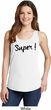 Super Black Print Ladies Tank Top