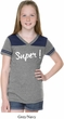 Super White Print Girls Football Shirt