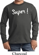 Super White Print Kids Long Sleeve Shirt