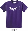 Super White Print Kids Shirt