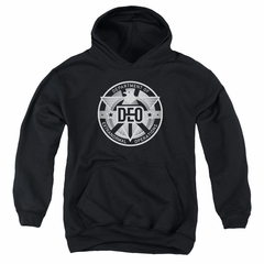 Supergirl Kids Hoodie DEO Symbol Black Youth Hoody