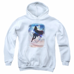 Supergirl Kids Hoodie Endless Sky White Youth Hoody