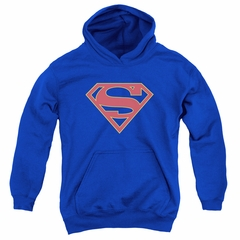Supergirl Kids Hoodie Logo Royal Blue Youth Hoody